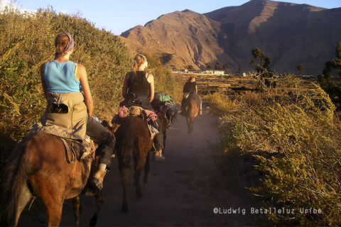 Riding colca